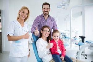 Family visiting Gorham family dentist for dental care